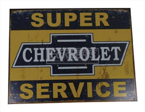 "metall plate ""Super Chevrolet Service"""